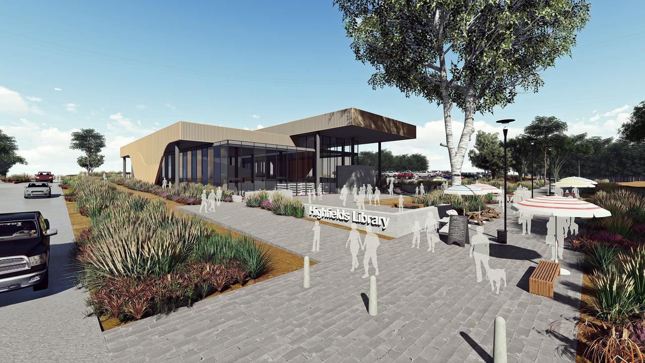 NEW LOOK: Residents have been asked to vote on the new facade for the upcoming Highfields Library. Option 2 shown.