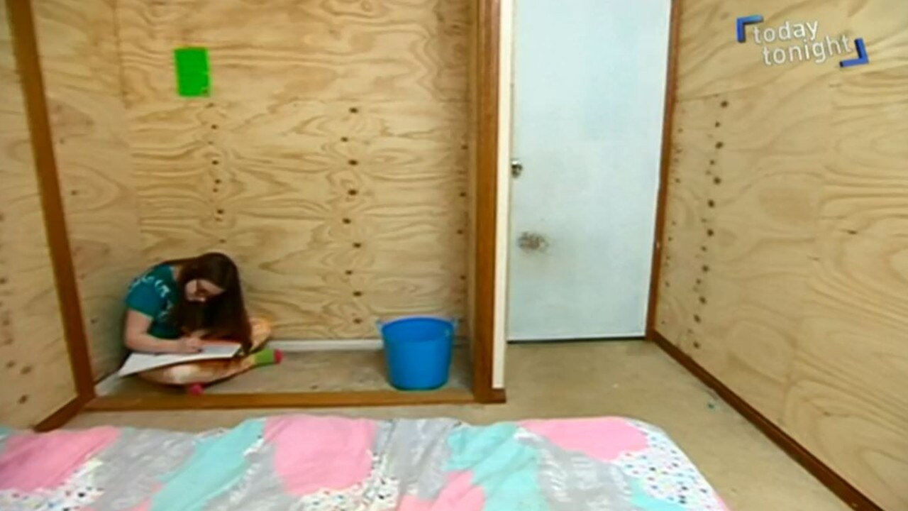 The 16-year-old described the boarded-up room as a 'prison'. Picture: Channel 7