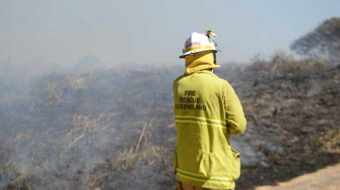 Emergency crews attend to vegetation fire