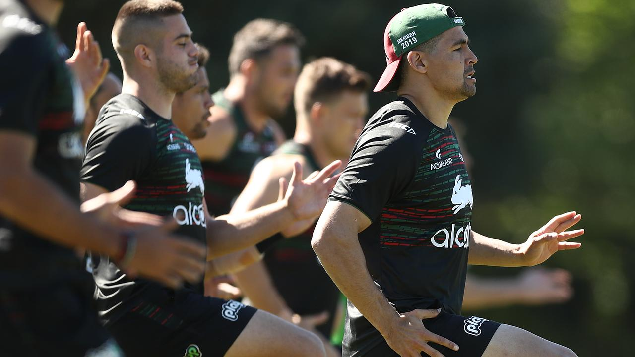 Walker has become a leader for the Rabbitohs. Photo: Mark Metcalfe/Getty Images