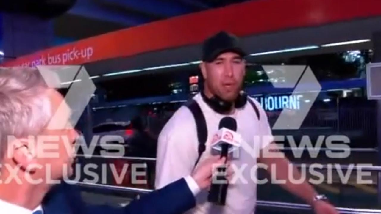 Asofa-Solomona returned to Australia on Monday. Picture by Seven News/Twitter.
