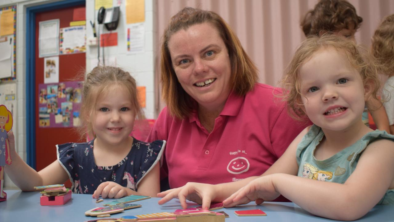 NUMBER ONE: Maddison Hermon, Felicity Biles and Maddi Heslin at Illoura Child Care Centre Rockhampton is CQ's best childcare centre.
