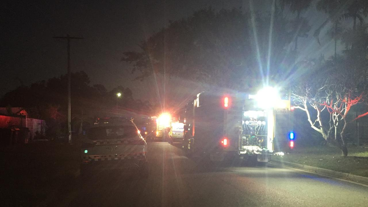 Emergency services rushed to the house in Condon tonight.