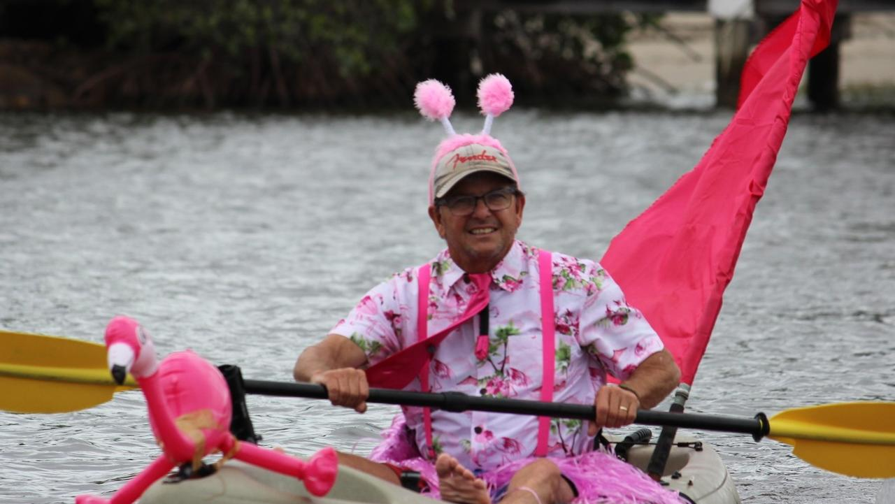 Paddle in Pink 2018: Both men and women are affected by breast cancer, and both were a part of this year's BICSUP Paddle in Pink on Noosa Sound.