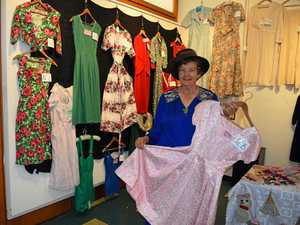 Vintage fashions on display