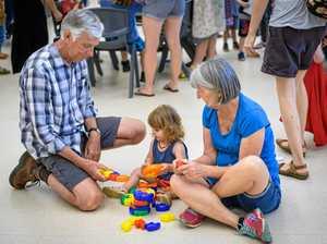 Grandparents bond with preschoolers over books