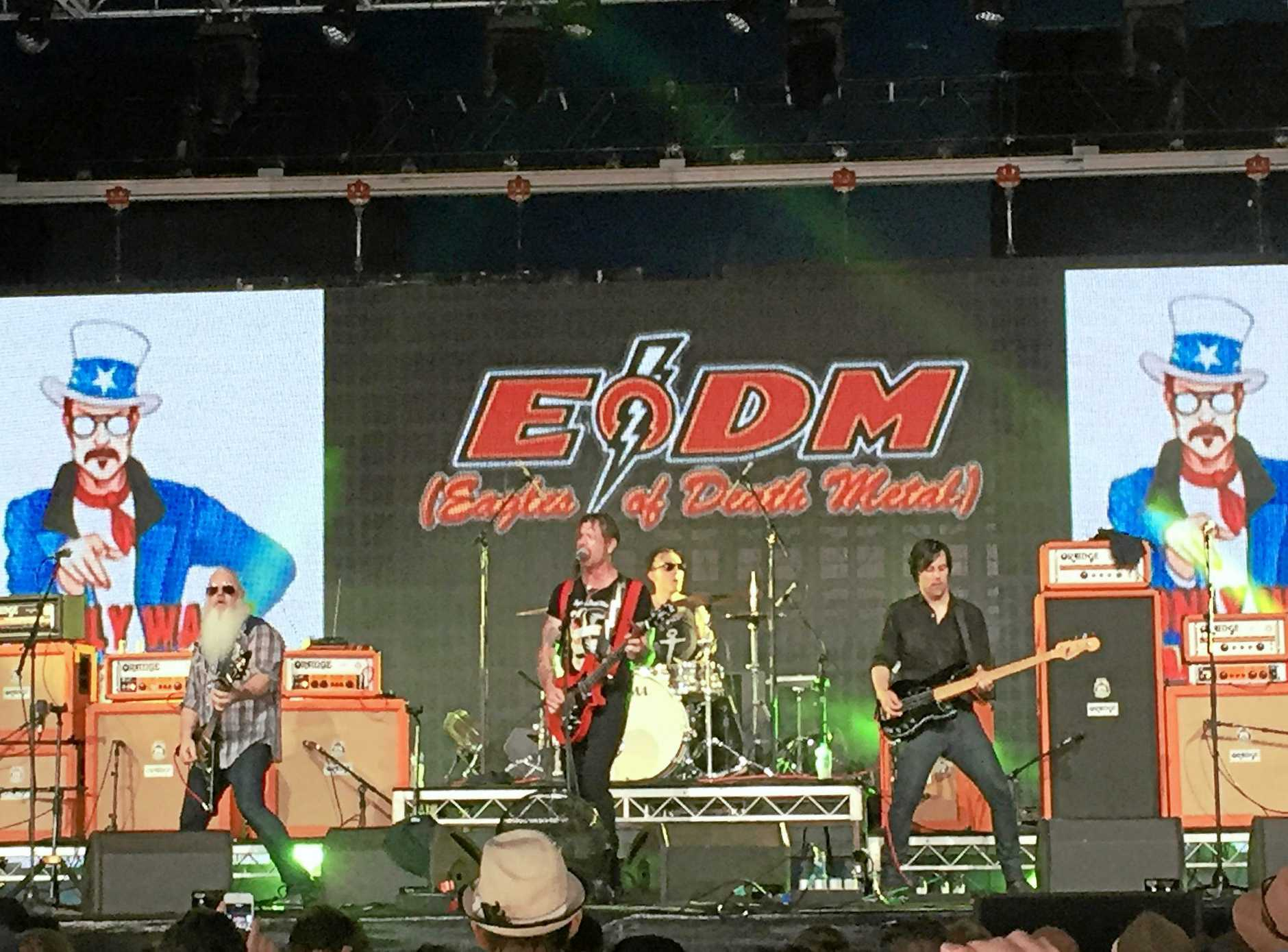 Eagles of Death Metal perform at Byron Bay Bluesfest 2016.