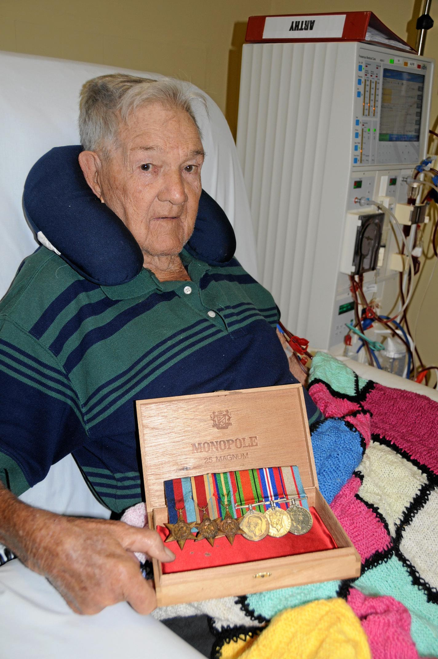 MILESTONE: Anzac veteran Roy Arthy's achievement include service on the Kokoda Track.