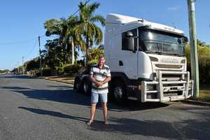 TRUCK OPPONENT: West Mackay resident Stephen Rush lobbied the local council in a bid to stop truckies using his street as a parking bay.