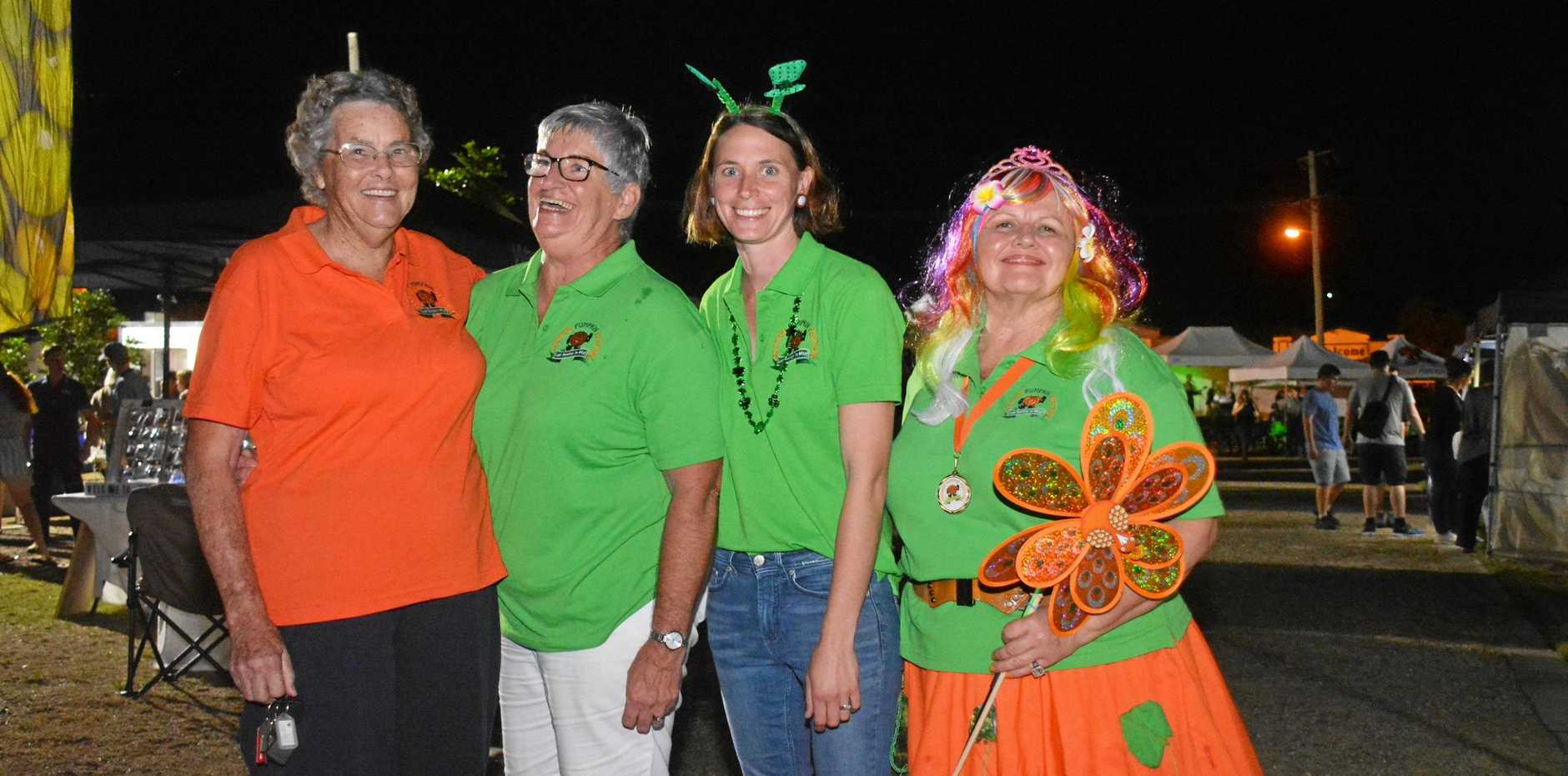 BIGGER AND BETTER: Goomeri Pumpkin Festival patron Phyllis Hopf, coordinator Kim Boyter, Emma Schneider and Penny Ruthenberg on March 17.