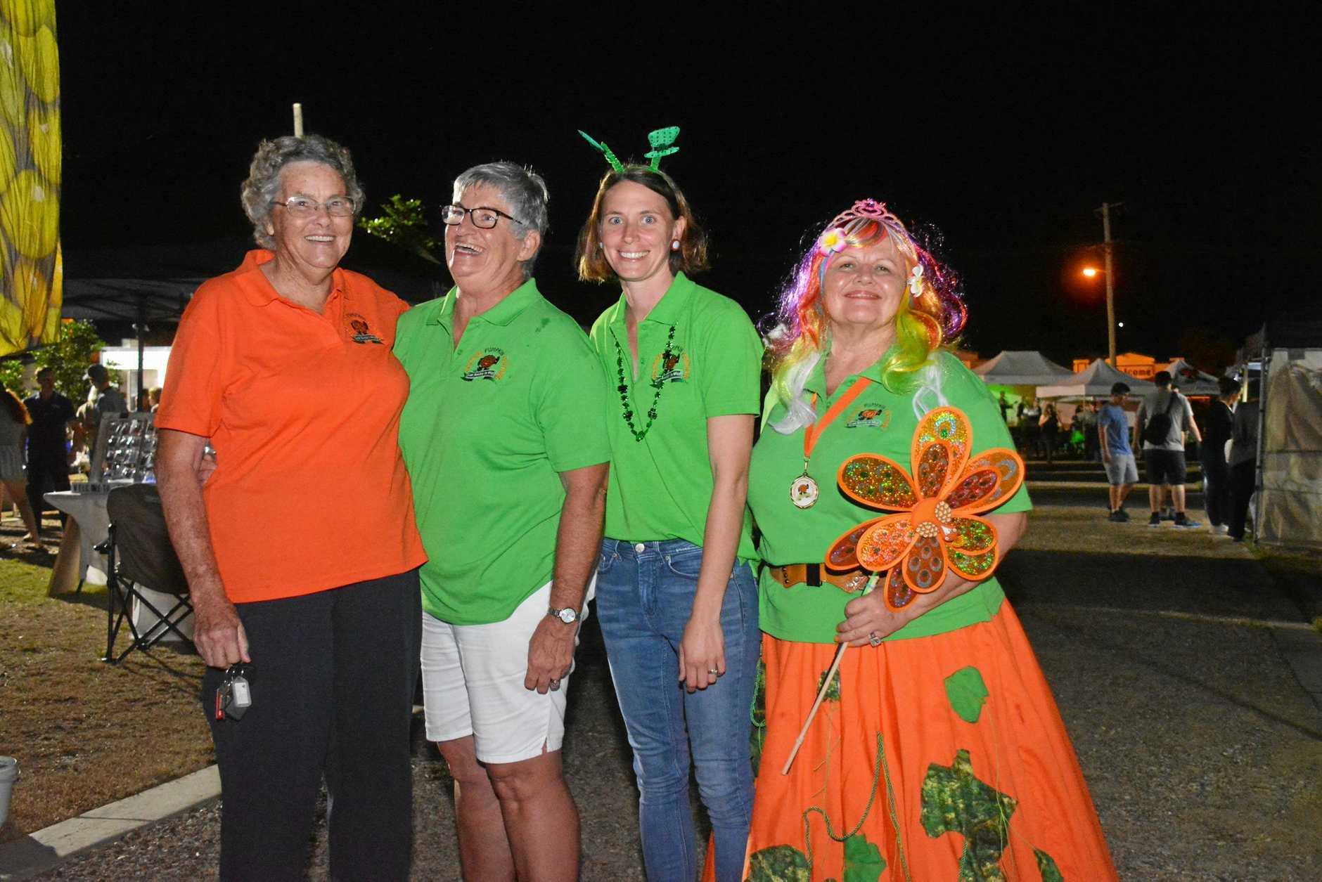 BIGGER AND BETTER: Goomeri Pumpkin Festival patron Phyllis Hopf, coordinator Kim Boyter, Emma Schneider and Penny Ruthenberg on March 17.