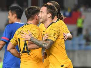 Seven heaven as Socceroos go on goalscoring spree
