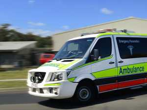 Man cut out of car by QFES after CQ crash