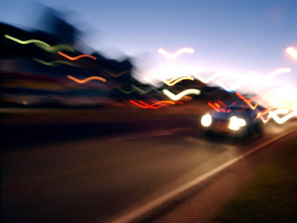 Traffic, night, road, driving, car, generic