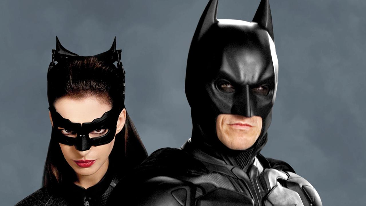 Anne Hathaway plays Catwoman and Christian Bale as Batman in Batman movie, The Dark Knight Rises. Picture: Supplied