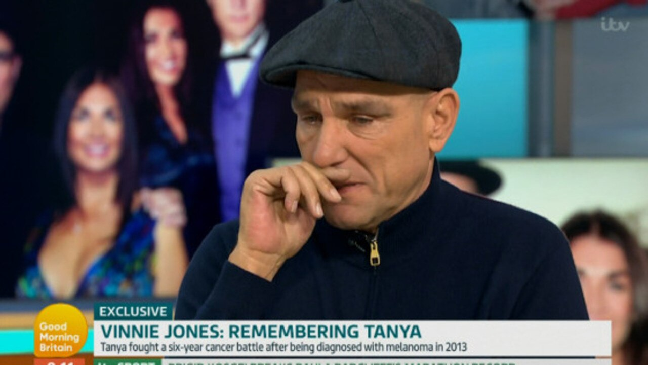 Vinnie Jones breaks down during a lengthy, candid talk on Good Morning Britain.