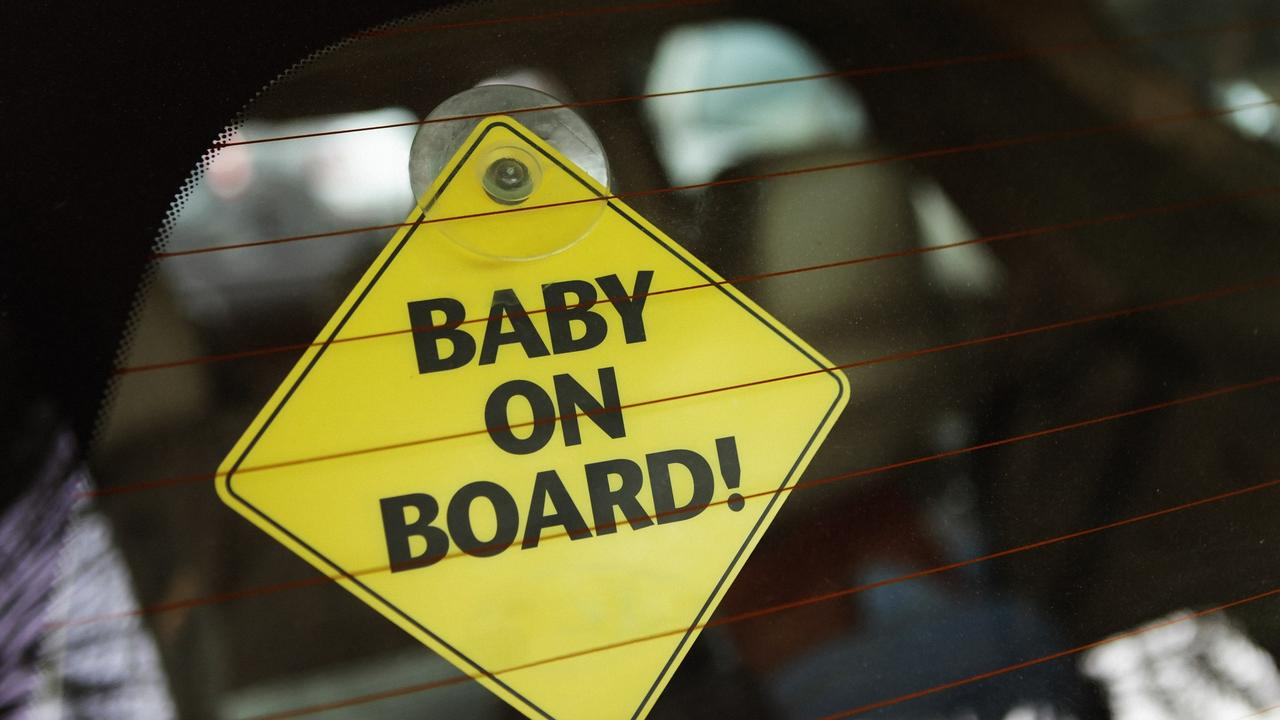 Drivers should pay close attention to parents with children in the back seat. Picture: iStock
