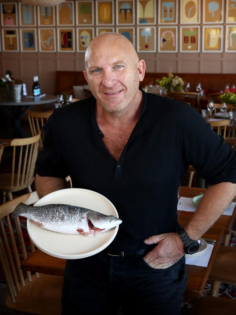 Chef Matt Moran hosts a lunch at his North Bondi Fish restaurant to celebrate National Barramundi Day. Picture: Toby Zerna