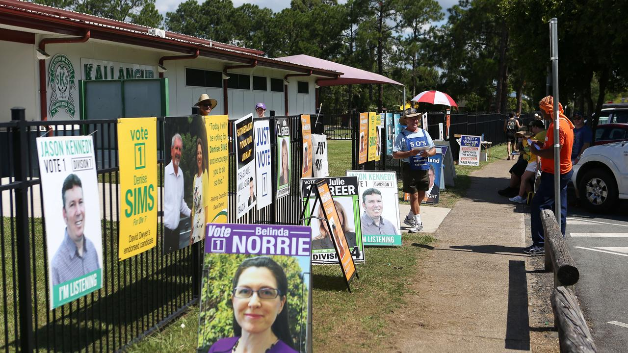 The 2016 Council Election. Polling booth at Kallangur State School. Pic: Josh Woning.