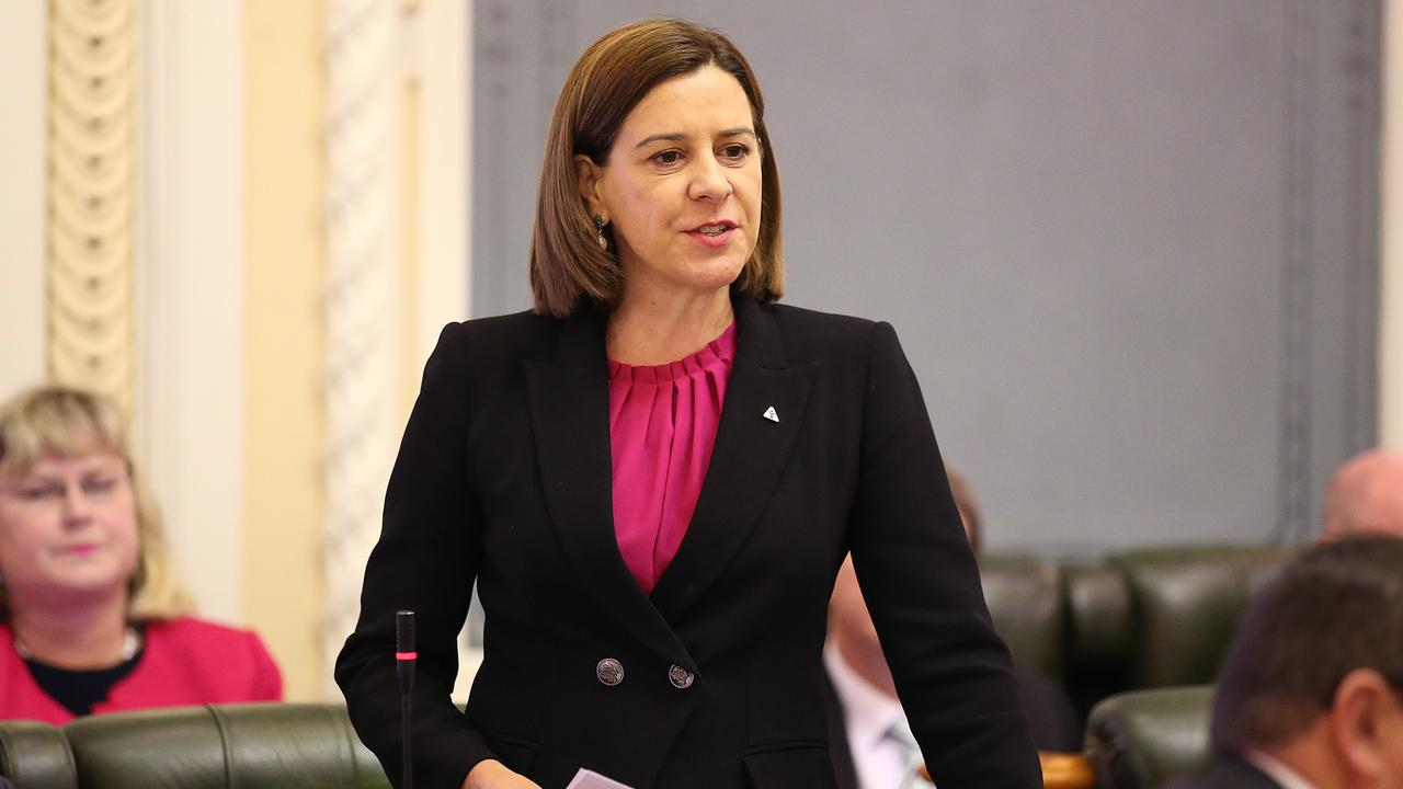 Opposition leader Deb Frecklington speaks during question time at Queensland Parliament.