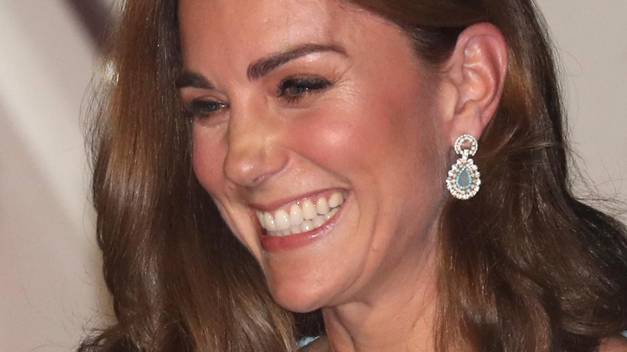 The Duchess of Cambridge smiles as she arrives at Kur Khan air base with Prince William, Duke of Cambridge ahead of their royal tour of Pakistan on October 14, 2019 in Rawalpindi, Pakistan. Picture: Chris Jackson/Getty Images