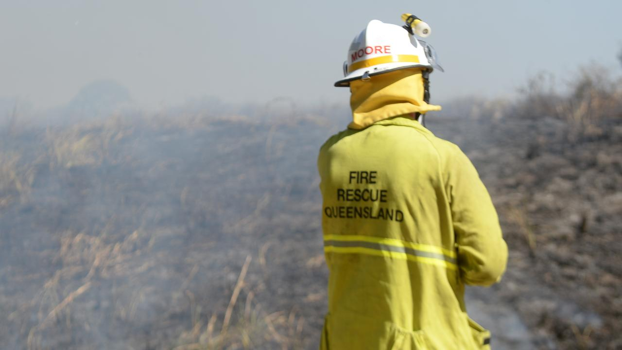 A Queensland Fire and Emergency Services spokeswoman said crews were attending one blaze in Pinnacle and a suspected fire in Cathu State Forest.