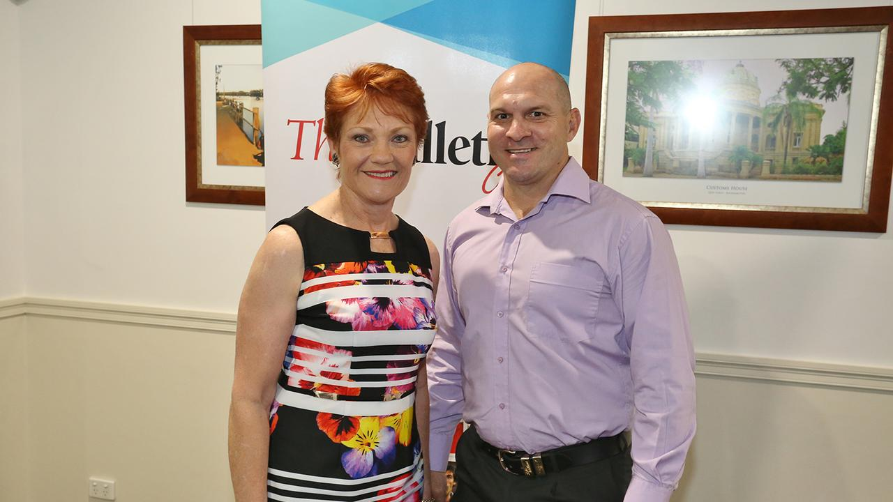 L-R Pauline Hanson and Wade Rothery.
