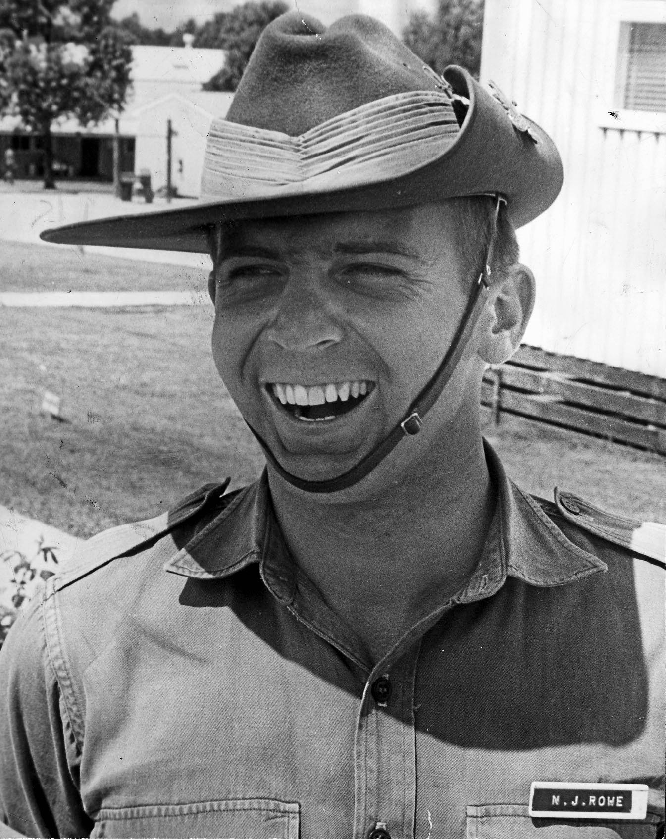 Normie Rowe the soldier during his Vietnam service.