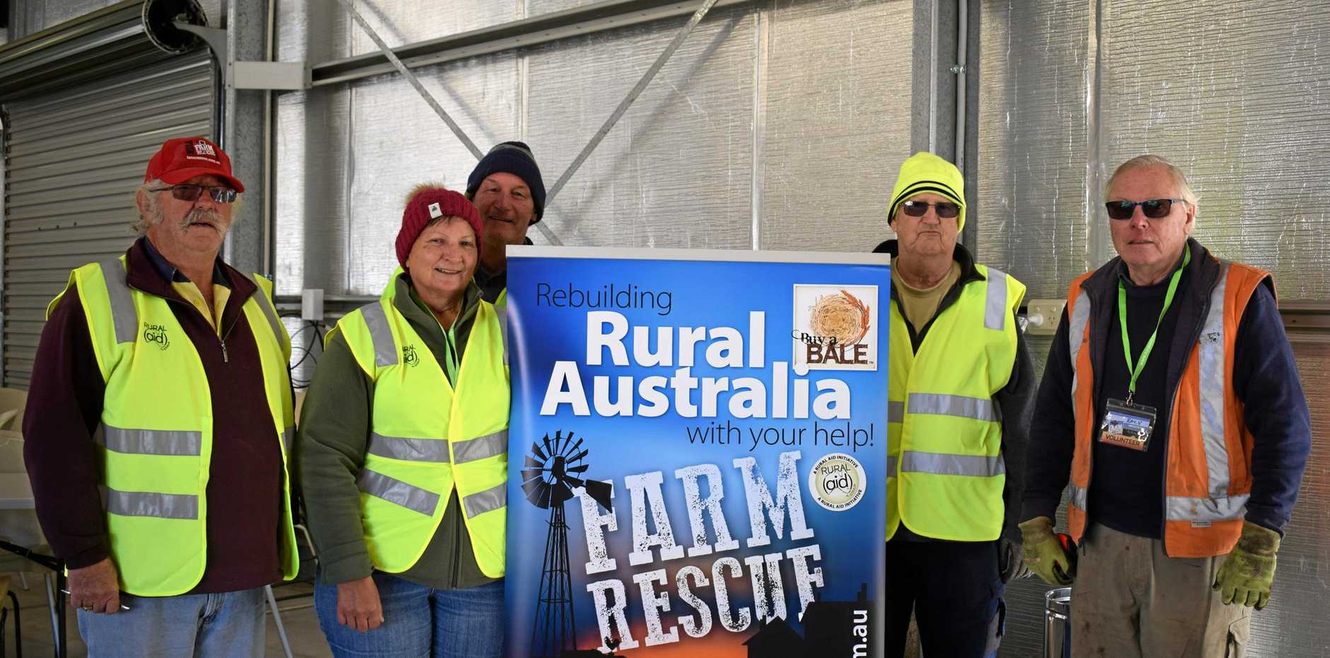 ARMY INVASION: Over 30 Rural Aid volunteers will spend the week in the South Burnett to assist local farmers and help repair the Wondai Showgrounds.