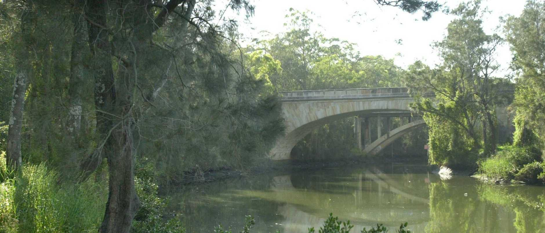 The crime scene where Chloe's body was found in 2003. Picture: John Grainger