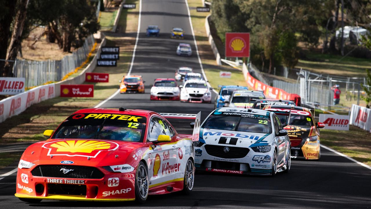 Scott McLaughlin, leading, may be stripped of his Bathurst win.