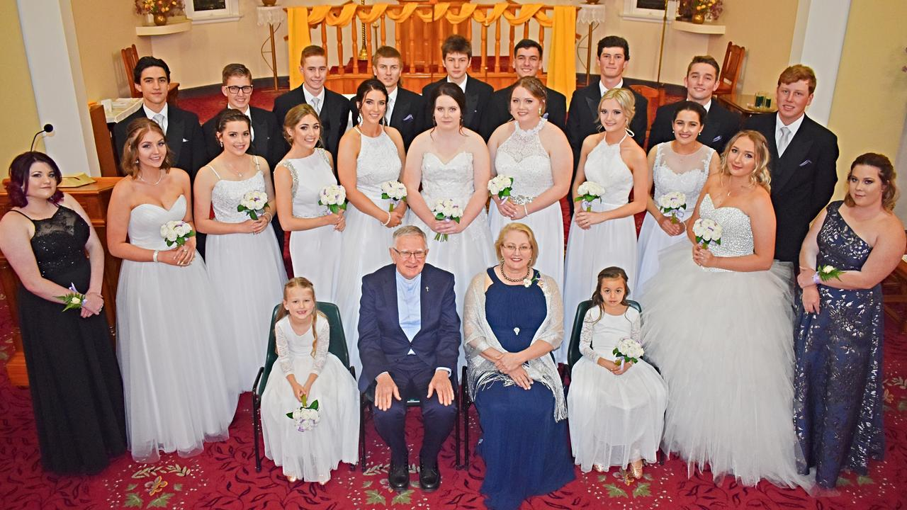 Debutante Ball participants ahead of Saturday night's official proceedings.