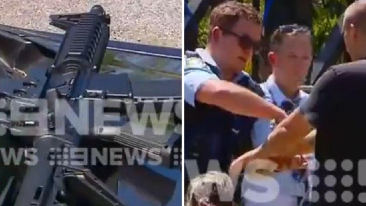 Man allegedly threatens M1 drivers with gun.