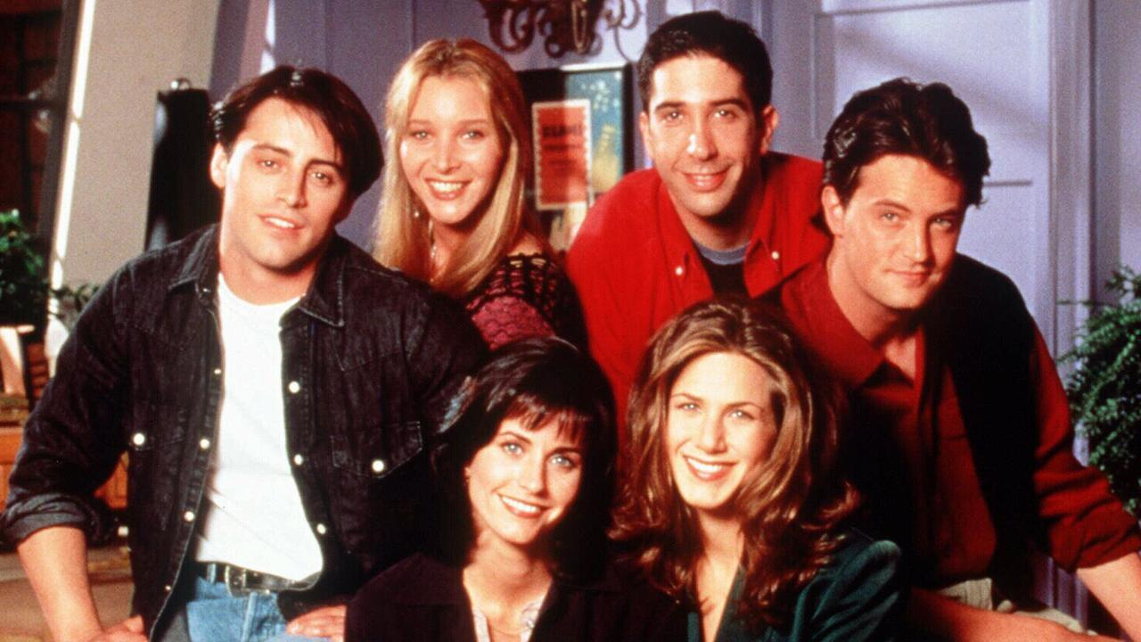 The cast of Friends includes (L-R) Matt Leblanc, Lisa Kudrow, Courteney Cox, David Schwimmer, Jennifer Aniston and Matthew Perry. Picture: Supplied