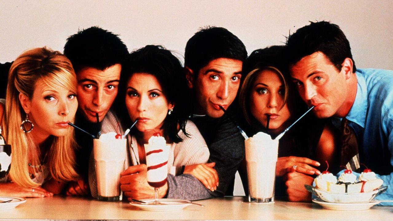 Friends cast (L-R) Lisa Kudrow with Matt Leblanc, Courteney Cox, David Schwimmer, Jennifer Aniston and Matthew Perry. Picture: Supplied