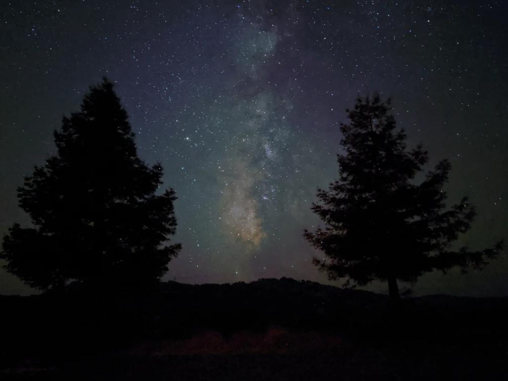 An image of the night sky taken on the Pixel 4. Picture: Google