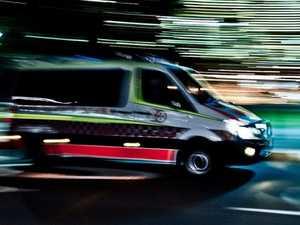 Man hospitalised after motorbike crash