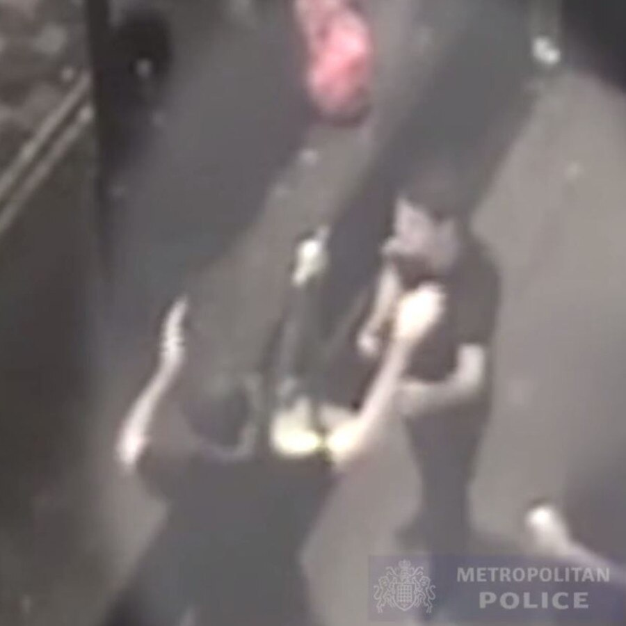 The pair high-fived and hugged after raping a drunk woman in a nightclub. Picture: Met Police