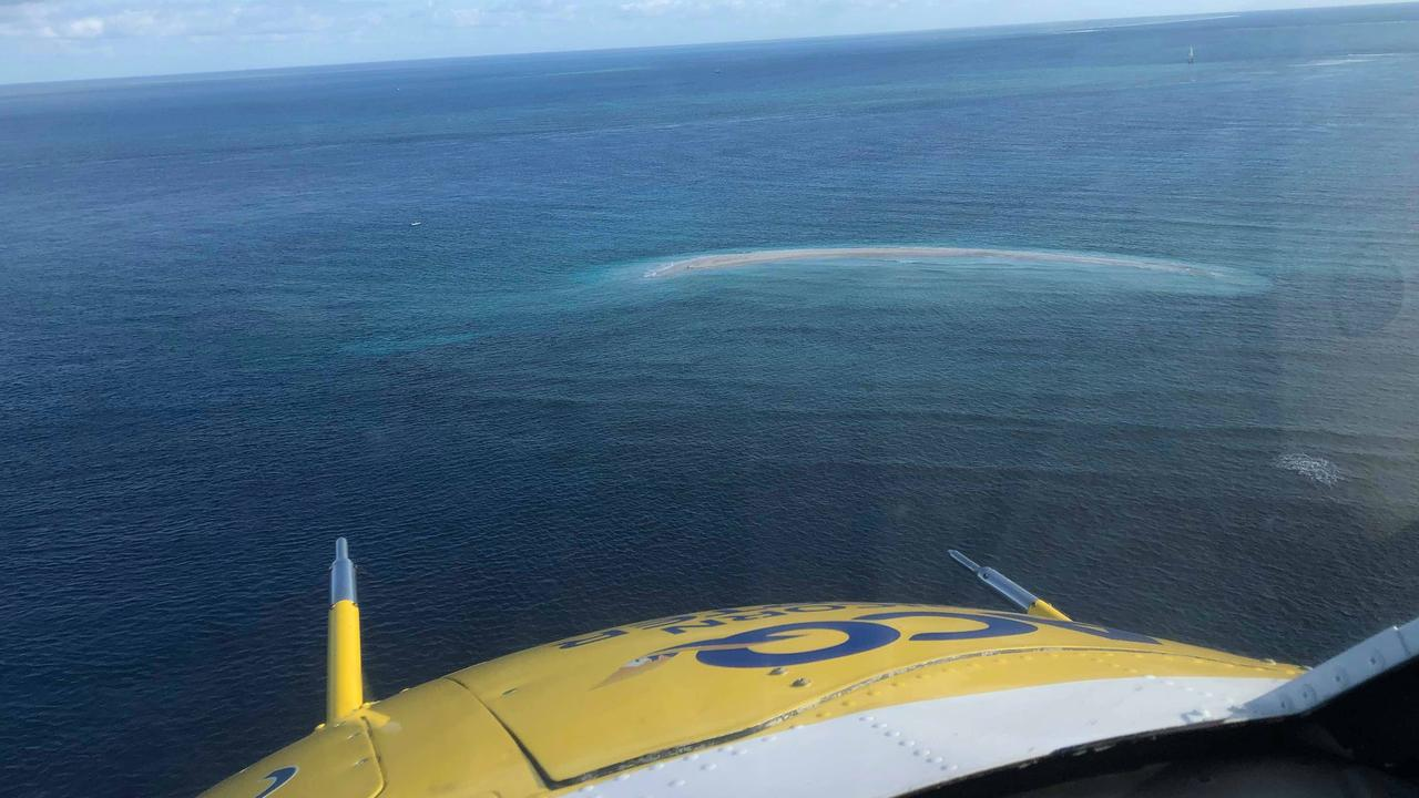 A man in his 40s was rescued from Swains Reef early in the morning on October 16. (Photo: RACQ CAPRICORN RESCUE)