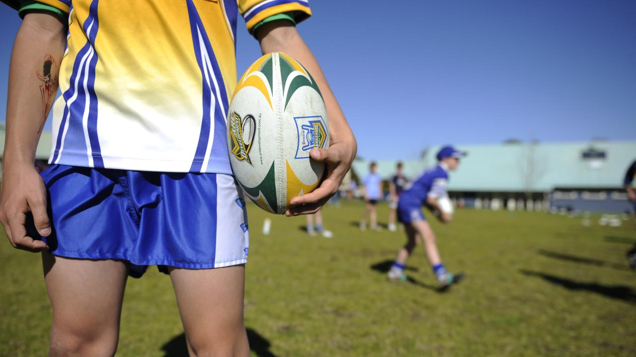 Generic shot showing junior rugby league players. Identities have been deliberately obscured.
