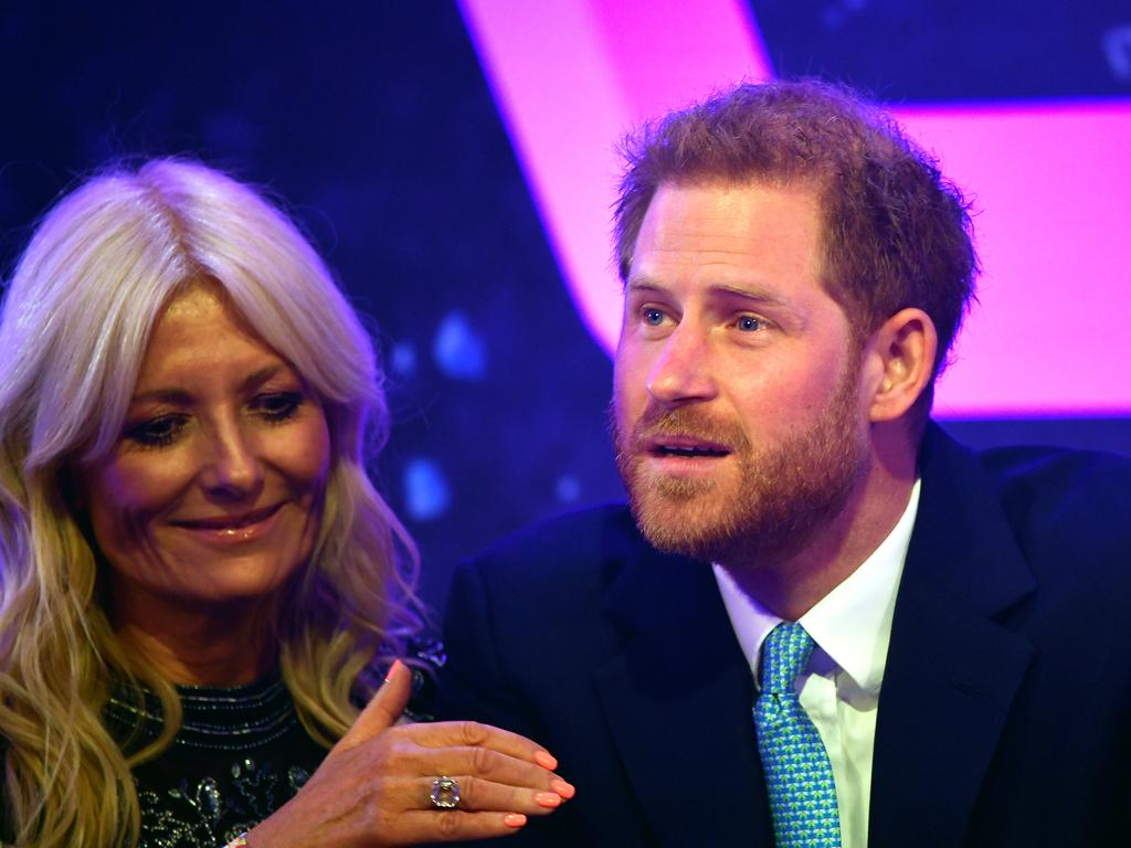 Prince Harry made an emotional speech. Picture: Getty Images