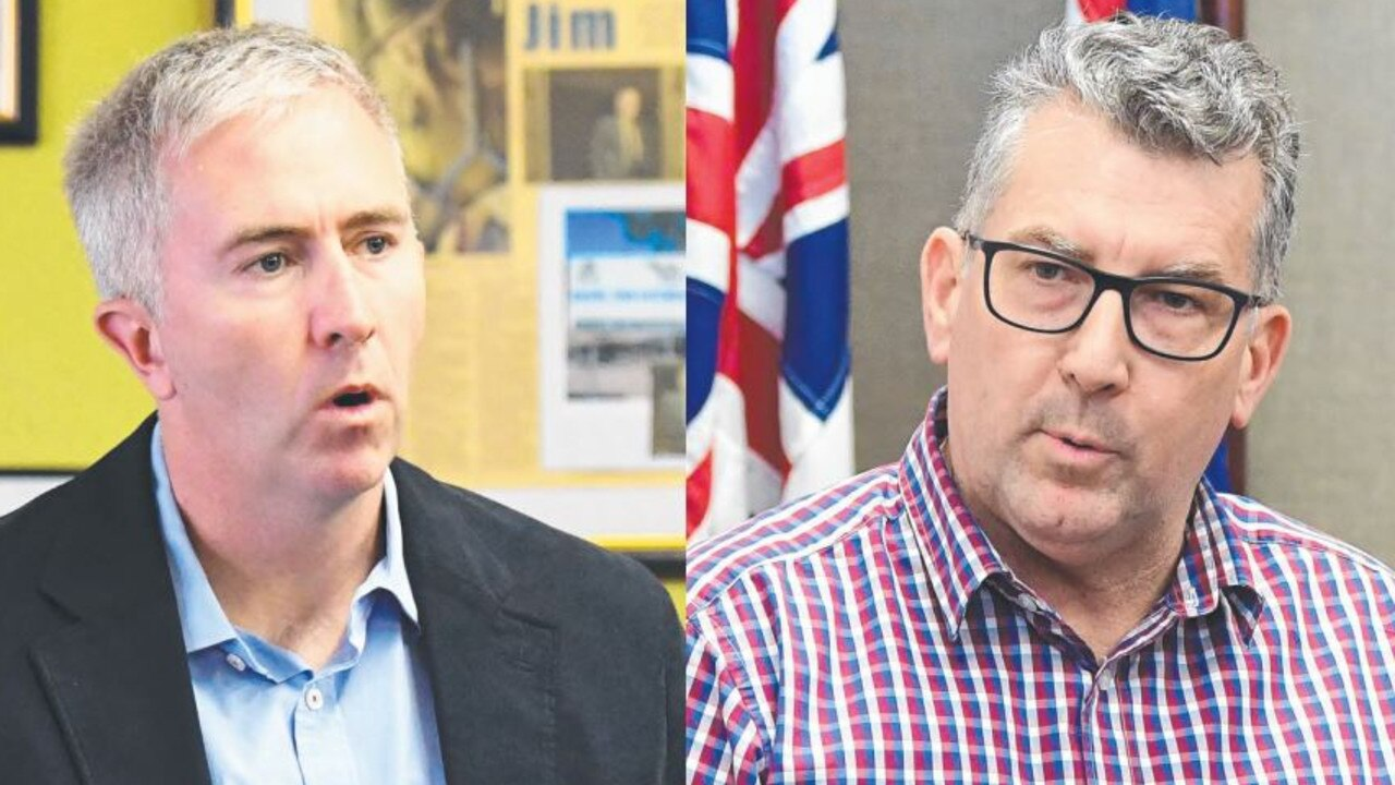 BLAME GAME: Labor senator Anthony Chisholm and LNP Member for Hinkler Keith Pitt.