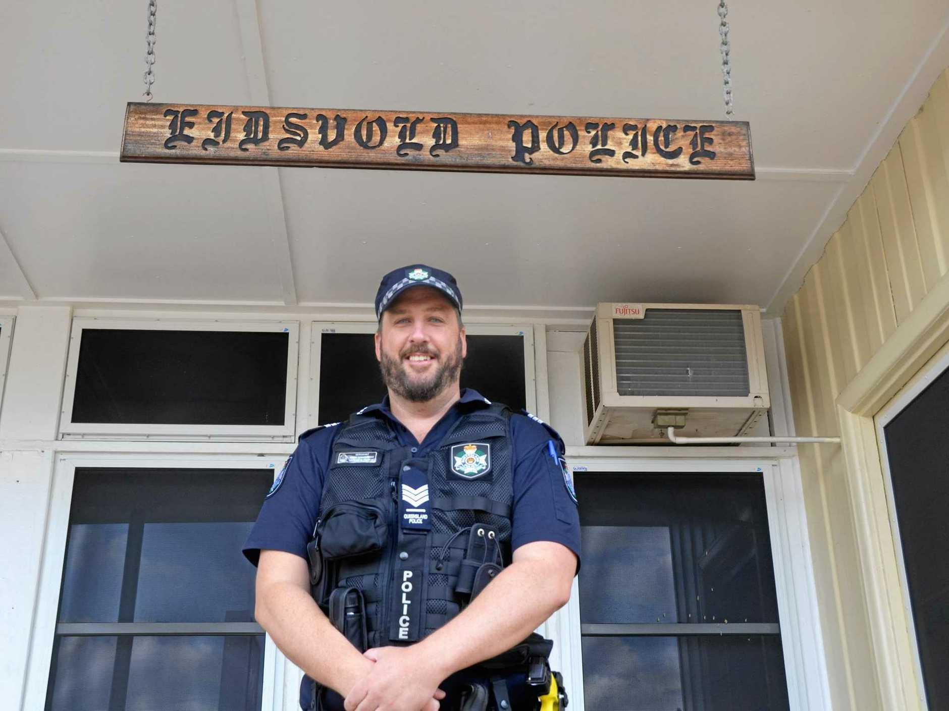 READY TO SERVE: New Eidsvold police officer Sergeant Mark Gawronski.