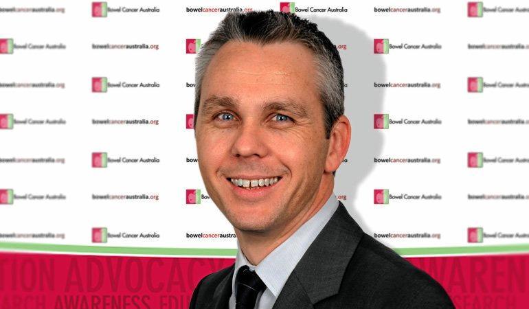 Bowel Cancer Australia CEO Julien Wiggins.