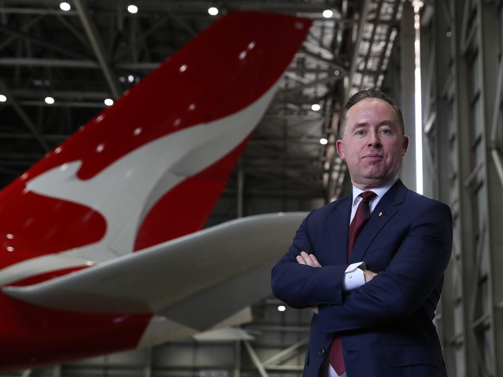 Qantas CEO Alan Joyce will assess the future of Project Sunrise after the test flights. Picture: David Swift