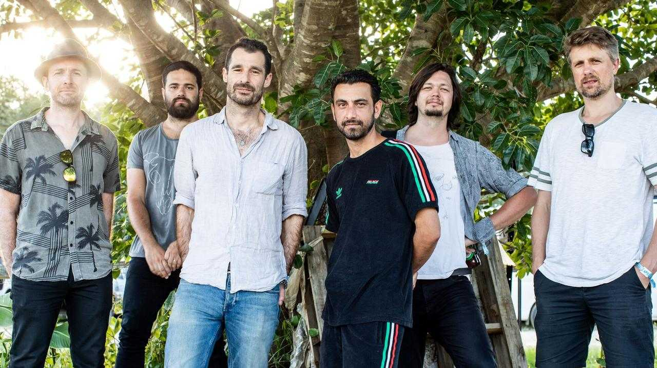 The Cat Empire's Felix Riebl, third from left, says Bluesfest is one of the best festivals in the world.