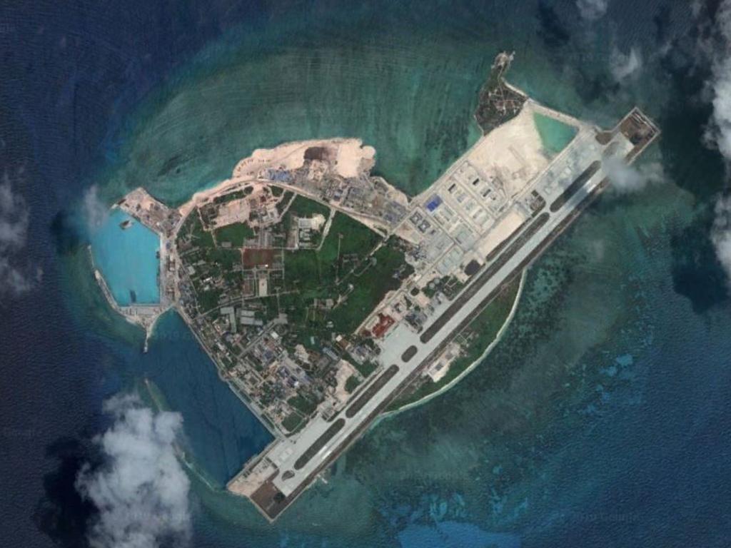 Woody Island in the South China Sea. Picture: Google Earth