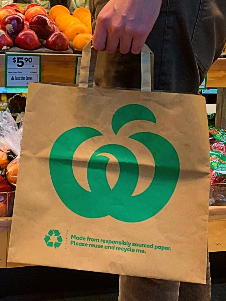 Woolworths is trialling new bags. Picture: Supplied