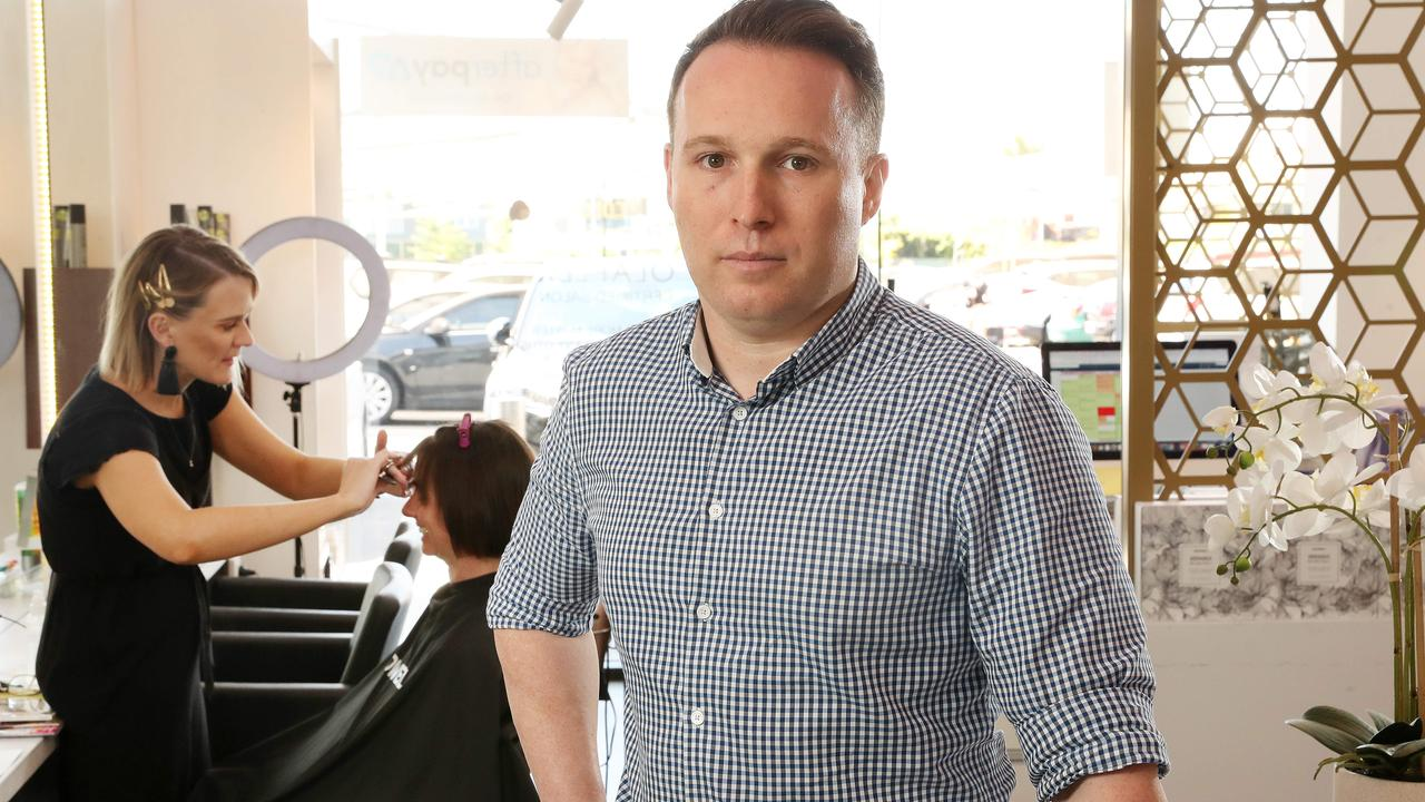 Hairdresser company Epic Hair Designs director Brendon Mann is finding it hard to find employees through job ads. Picture: Liam Kidston