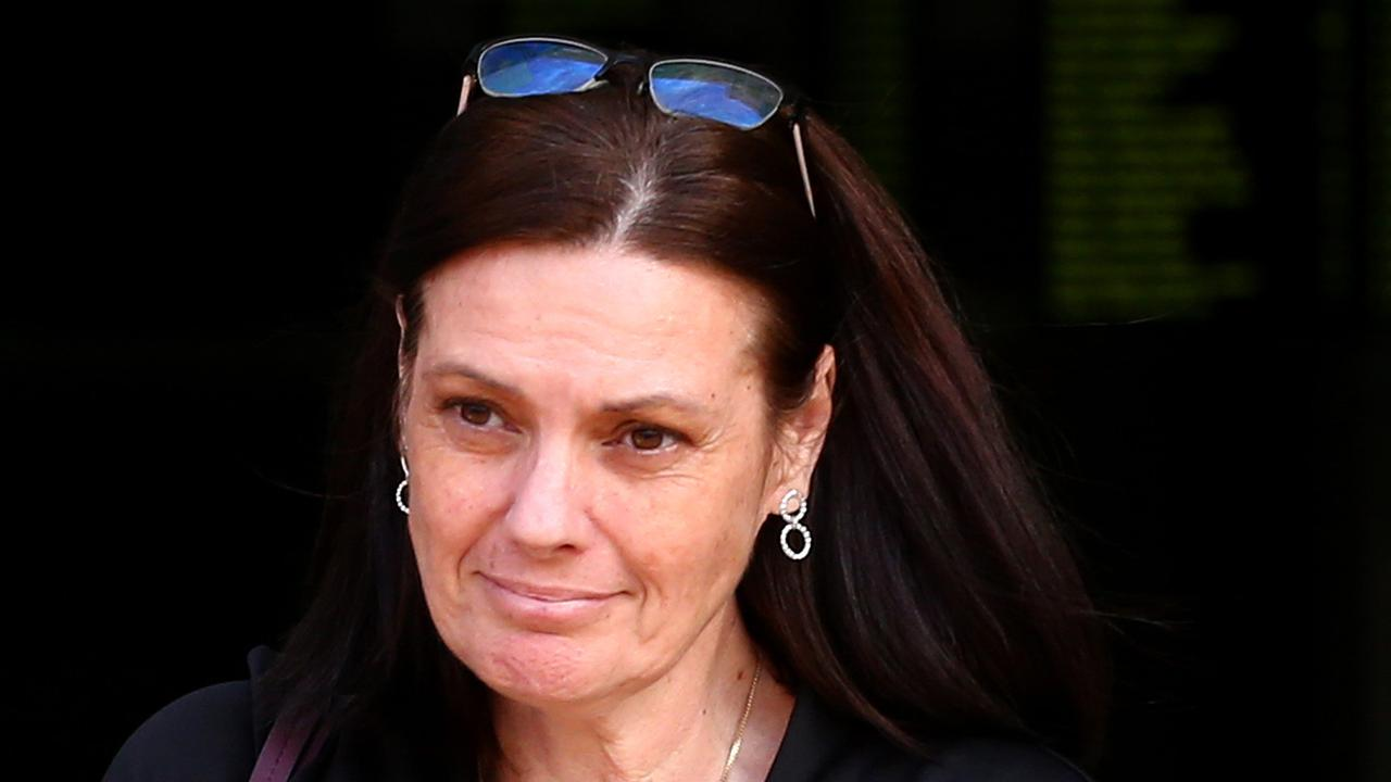 Tamborine Mountain State High Principal Tracey Brose leaves Southport Court. Picture: Adam Head